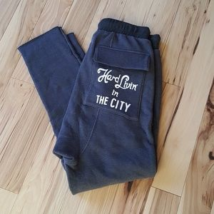 NWT Wildfox Grey Hard Livin' in the City Sweatpant